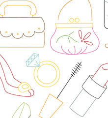 SMALL PACK Embroidery Patterns -  DRESS UP