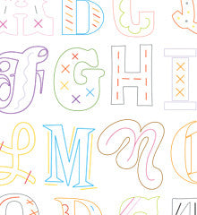 SMALL PACK Embroidery Patterns -  EPIC ALPHABET