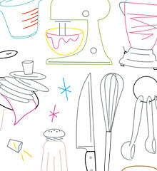 SMALL PACK Embroidery Patterns - KRAZY KITCHEN