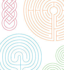 SMALL PACK Embroidery Patterns - LABYRINTHS