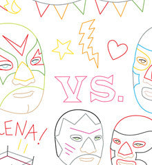 SMALL PACK Embroidery Patterns - LUCHA LIBRE