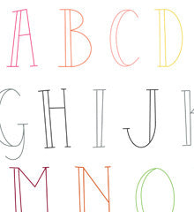 SMALL PACK Embroidery Patterns -  SKINNY LETTERS