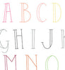 SKINNY LETTERS - Embroidery Patterns