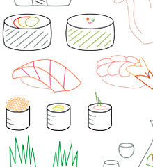 SUSHI BAR - Embroidery Patterns