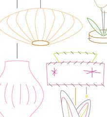 VINTAGE LAMPS - Embroidery Patterns