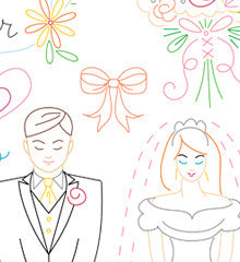 WEDDING WISHES - Embroidery Patterns