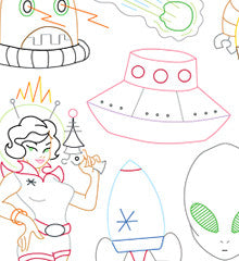 SMALL PACK Embroidery Patterns -  SPACED OUT