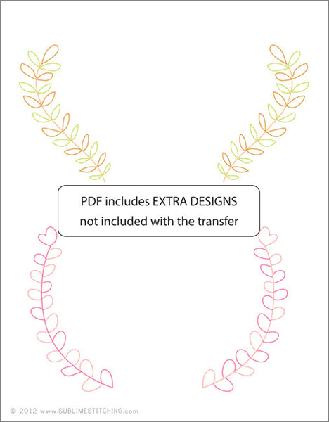 SMALL PACK Embroidery Patterns -  ERIN PAISLEY