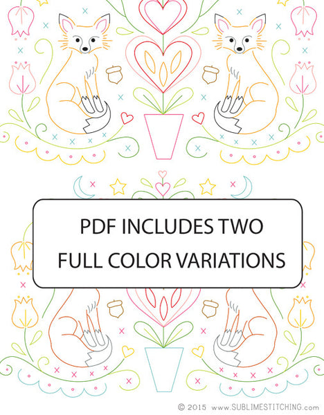 Folk Foxes PDF Pattern
