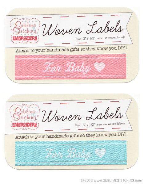 Woven Labels - For Baby