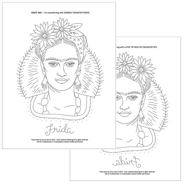 TE AMO FRIDA - PDF Embroidery Portrait Pattern & Stitch Atlas™ by Jenny Hart