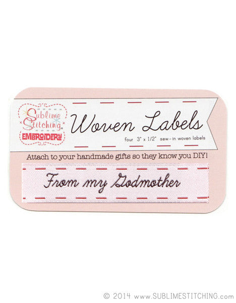 Woven Labels - From My Godmother