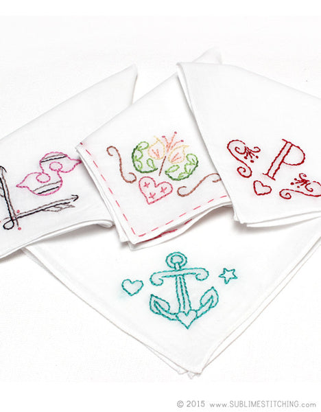 Pastel Handkerchiefs for Embroidery