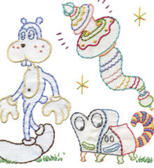 SMALL PACK Embroidery Patterns - JIM WOODRING