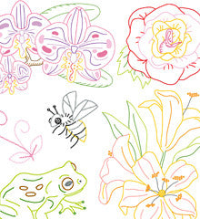 SMALL PACK Embroidery Patterns - LITTLE BLOOMS