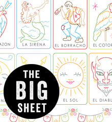 MEXICAN LOTERIA - Embroidery Patterns BIG SHEET