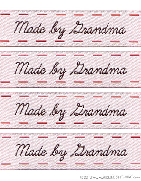 Woven Labels - Made by Grandma