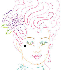 Marie Antoinette - PDF Embroidery Pattern