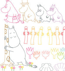 SMALL PACK Embroidery Patterns -  MOOMIN MOTIFS