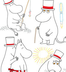 SMALL PACK Embroidery Patterns -  MOOMIN PAPA