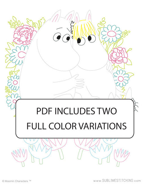 BIG SHEET Embroidery Patterns - MOOMIN LOVE