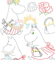 SMALL PACK Embroidery Patterns -  MOOMIN MAMMA