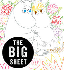MOOMIN / Moomin Love - Embroidery Patterns BIG SHEET