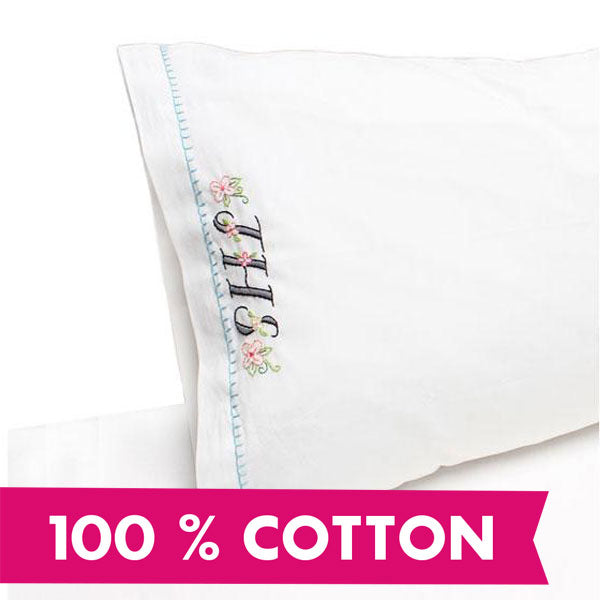 Narrow Hem Pillowcases 100% Cotton