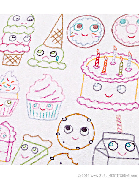 SMALL PACK Embroidery Patterns -  SWEET TREATS