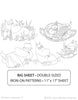 MOOMIN / Sleepy Moomins - Embroidery Patterns BIG SHEET