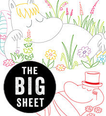 BIG SHEET Embroidery Patterns - SLEEPY MOOMINS