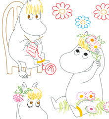 SMALL PACK Embroidery Patterns -  MOOMIN SNORK MAIDEN