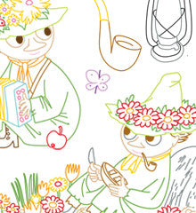 SMALL PACK Embroidery Patterns -  MOOMIN SNUFKIN