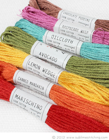 FRUIT SALAD - Sublime Embroidery Floss Palette