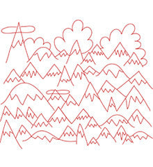 Many Mountains - PDF Pattern