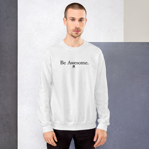 Be Awesome White Sweater