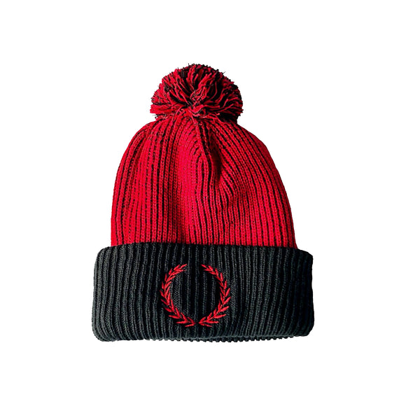 Bios Red/Black Speckled Knit Toque - BiosClothing.com