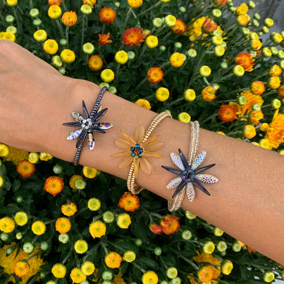 Zoe Bracelets with Flower Design Beaded