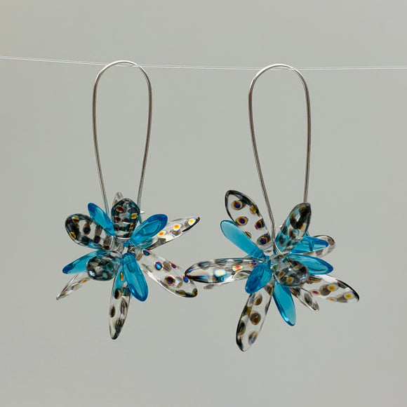 Shelalee Eileen Earrings Turquoise Czech Glass Beads