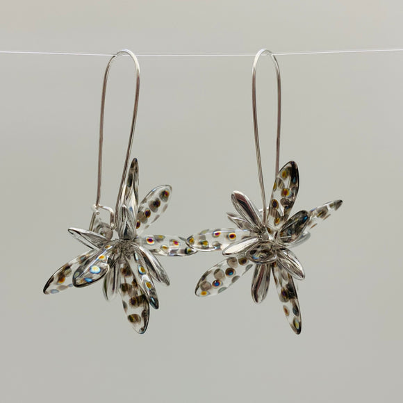 Eileen Earrings in Crystal Metallic with Silver