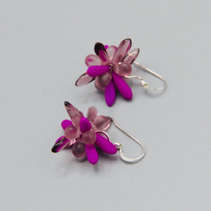 Mia Earrings in Neon Purple with Lilac Accents