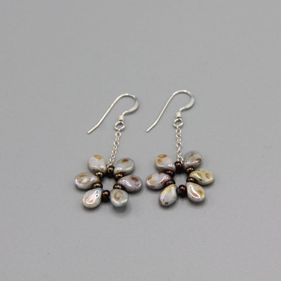 Daisy Earrings in Natural Stone Finish