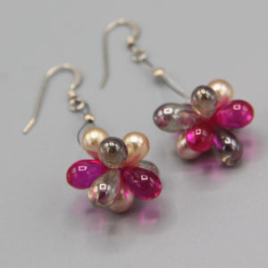 Erica Earrings in Pink and Pearl