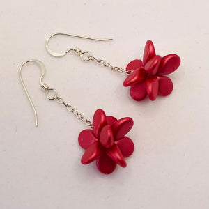 Heather Earrings in Satin Red