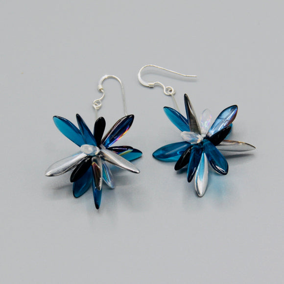 Emma Earrings in Shiny Blue