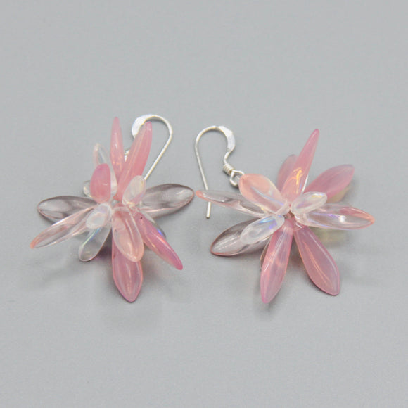 Emma Earrings in Pink with Crystal Accents