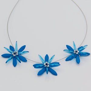 Anna Necklace in Neon Sapphire Blue