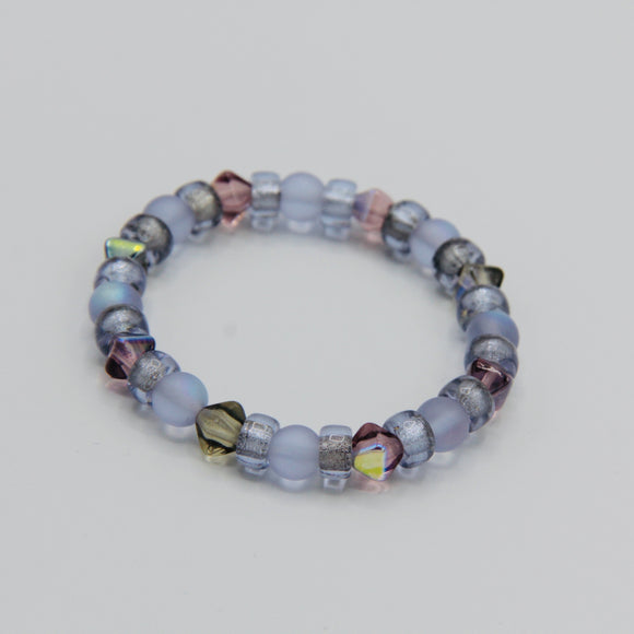 Shayna Girl's Bracelet in Purple Mix - Size Small