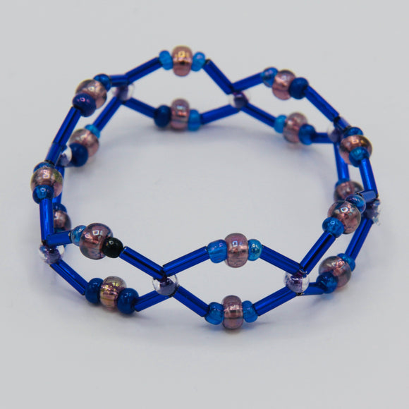 Jennifer Bracelet in Purple and Blue