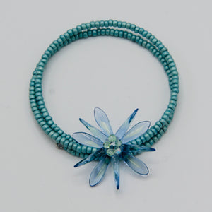 Zoe Beaded Bracelet in Turquoise Blue and Green